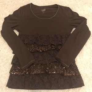 Justice Brand Girl's Ruffle Top